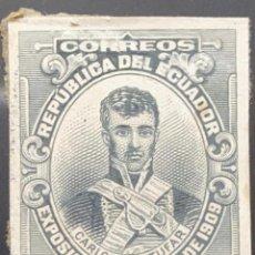 Sellos: O) 1909 ECUADOR, PRUEBA DE DADO, CARLOS MONTUFAR, MILITAR CRIOLLO, LIBERADOR DEL ECUADOR ACTUAL, MI. Lote 226144716