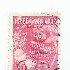 Sellos: SELLO USADO DE ECUADOR DE 1954 - YVERT 584 -BANANAS - VALOR 30 CENTAVOS. Lote 227045160