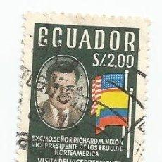 Sellos: SELLO USADO DE ECUADOR DE 1958 - YVERT 638 -VISITA DEL PRESIDENTE DE EEUU NIXON - VALOR 2 SUCRE. Lote 227051480