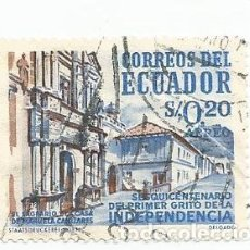 Sellos: SELLO USADO DE ECUADOR DE 1959 - YVERT 346 -CORREO AEREO- ANIVERSARIO INDEPENDENCIA - VALOR 0,20. Lote 227054900