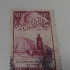 Sellos: SELLO 10 CENTAVOS REPUBLICA DEL ECUADOR ORDINARIO USADO. Lote 241453125