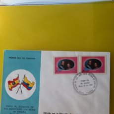 Sellos: ECUADOR VISITA REYES ESPAÑA MATASELLO OFICIAL SERIE COMPLETA USADA 1980 FILATELIA COLISEVM. Lote 244827350