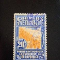 Sellos: ECUADOR 20 CENTS, PRIDUCTOR DE AZUCAR, AÑO 1930... Lote 245935290