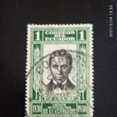 Sellos: ECUADOR 1 SUCRE, OLMEDO, AÑO 1930... Lote 245935865