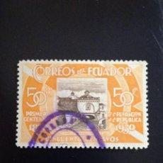 Sellos: ECUADOR 50 CENTS, PRIMER CENTENARIO, AÑO 1930... Lote 245936955