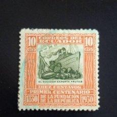 Sellos: ECUADOR 10 CENTS, EXPORTADOR DE FRUTA, AÑO 1930... Lote 245937735