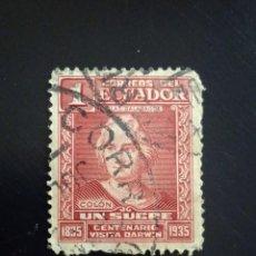 Sellos: ECUADOR 1 CENT, COLON, VISITA DARWIN AÑO 1935.. Lote 245941095