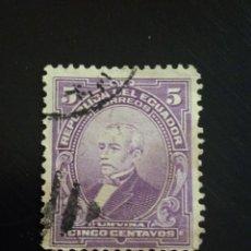 Sellos: ECUADOR 5 CENTS, PRESIDENTE URBINA AÑO 1910.. Lote 245941840