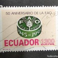 Sellos: ECUADOR 1995. F.A.O., 50TH ANNIV... Lote 245961500