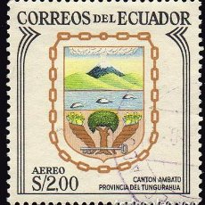 Sellos: AMÉRICA.ECUADOR. ESCUDOS DE LOS CANTONES. CANTÓN AMBATO.YTPA396 USADOS SIN CHARNELA. Lote 252556875