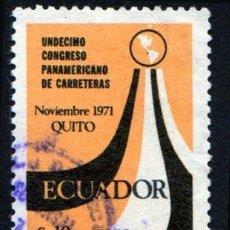 Sellos: AMÉRICA. ECUADOR. CONFERENCIA PANAMERICANA RUTAS SIMBÓLICAS. QUITO. YTPA535. USADO SIN CHARNELA. Lote 252558345