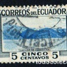 Sellos: AMÉRICA..ECUADOR..TURISMO. LAGUNA DE CUOCHA. YT565. USADO SON CHARNELA.. Lote 252563310