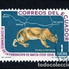 Sellos: AMÉRICA. ECUADO IV CENTENARIO DE LA FUNDACIÓN DE LA CIUDAD DE BAEZA..TAPIR.YT659 USADOS SIN CHARNEL. Lote 252558610