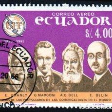 Sellos: AMÉRICA. ECUADOR. I CENTENARIO DE LA UNIÓN INTERNACIONAL DE TELECOMUNICACIONES. YTPA452. USADO SIN. Lote 252837985
