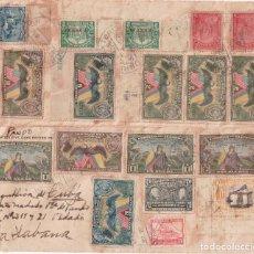 Sellos: CARTA DE ECUADOR A LA HABANA DE JULIO DE 1938. Lote 253247045