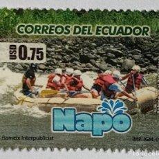 Sellos: EQUADOR 2009, RATING EM EL RIO QUIJOS. Lote 254614270