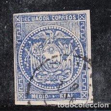 Sellos: ECUADOR ...1 USADA, ESCUDO. Lote 254907355