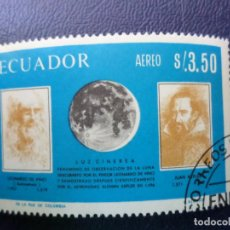 Sellos: ECUADOR, LUZ CINEREA, SELLO USADO CORREO AEREO. Lote 261793135