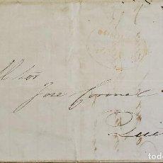 Sellos: O) 1849 ECUADOR, PRESTAMP, GUAYAQUIL DE OFICIO, ORANGE OVAL CANCELLATION, RARE COLOR, XF. Lote 266025928