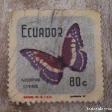 Sellos: ECUADOR 1970 -MARIPOSA - USADO. Lote 278503953