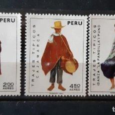 Sellos: PERU,1973, CAT.YT.PA. 343/345. Lote 285401283
