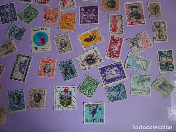 Sellos: LOTE DE 100 SELLOS VARIADOS DE ECUADOR, ANTIGUOS Y MODERNOS, VER FOTOS - Foto 5 - 286327143