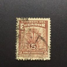 Sellos: ## ECUADOR USADO 1940 CASAS DE CORREOS 5 C##. Lote 288362253