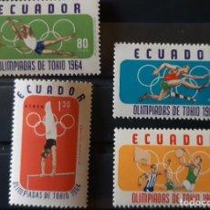 Sellos: ECUADOR,1964,CAT.YT.722Y PA.433/435.. Lote 288953043