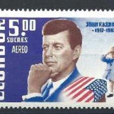 Sellos: ÉQUATEUR PA N°430/32* (MH) 1964 - JOHN F. KENNEDY. Lote 289535478