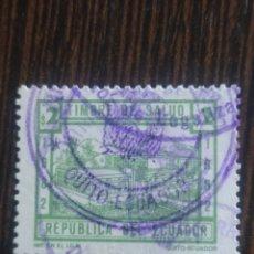 Sellos: SELLO FISCAL TIMBRE DE SALUD ECUADOR 2 SUCRES. Lote 293497568