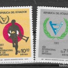Sellos: ECUADOR Nº AE 741 AL 742(**). Lote 294140658