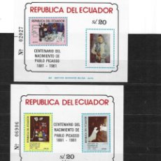 Sellos: ECUADOR Nº HB 56 AL 57 CHARNELA (*). Lote 294278743