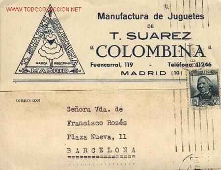 TARJETA POSTAL 'JUGUETES COLOMBINA' (Sellos - España - Entero Postales)