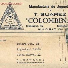 Sellos: TARJETA POSTAL 'JUGUETES COLOMBINA'. Lote 27513582
