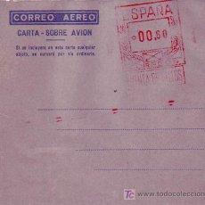 Sellos: AEROGRAMA NUEVO CON FRANQUEO MECANICO PREVIAMENTE IMPRESO (EDIFIL NUMERO 7). GRAN CALIDAD. MPM.. Lote 26115144