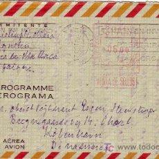 Sellos: AEROGRAMA USADO (EDIFIL Nº 77) CIRCULADO MALLORCA-DINAMARCA.PRECIO CATALOGO SUPERIOR A 130 EUROS MPM. Lote 23788431