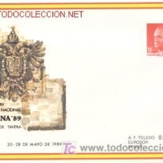 Sellos - SOBRE ENTERO POSTAL EDIFIL Nº13, EXFILNA'89, (TOLEDO) - 25646905
