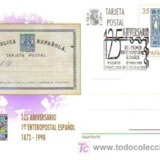 Stamps - ENTERO POSTAL CON MAT PRIMER DIA 125 ANIV PRIMER ENTERO POSTAL - 5226934