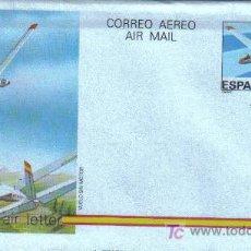 Sellos: ENTERO POSTAL - AEROGRAMA CON SELLO IMPRESO ( EDIFIL 209). VELERO CLASE OPTIMA GROB. Lote 6360370