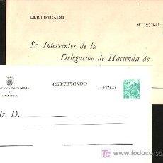 Sellos: .SOBRES ADMINISTRACION PUBLICA 6/7 MISMO Nº, GIRO TRIBUTARIO, GENERAL FRANCO Y CASTILLO DE LA MOTA,. Lote 75059347