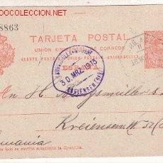 Sellos: ENTERO POSTAL CIRCULADO EN 1913 FUENTE DE OÑORO-ALEMANIA. Lote 27059423