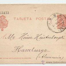 Sellos: ENTERO POSTAL CIRCULADO JAÉN - HAMBURGO 1910. Lote 13796142