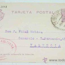 Sellos: ANTIGUA ENTERO POSTAL - EPOCA ALFONSO XIII - CIRCULADA.. Lote 11491097