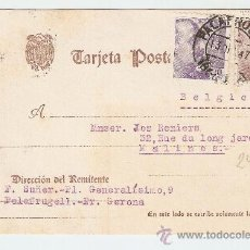 Sellos: TARJETA POSTAL PALAFRUGELL (GERONA) - BÉLGICA 1947. Lote 221797668