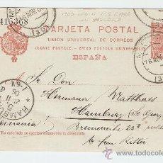Sellos: ENTERO POSTAL CIRCULADO MÁLAGA - HAMBURG 1906. Lote 13472131