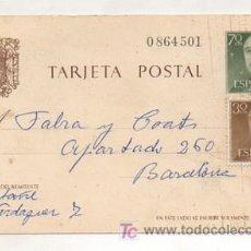 Sellos: ENTERO POSTAL. 1968. TARRASSA - BARCELONA. . Lote 12791840