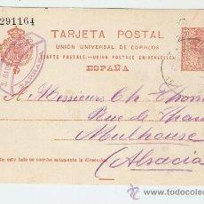 Sellos: ENTERO POSTAL TARRASA - ALSACIA 1912. Lote 13342790