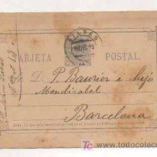Sellos: ENTERO POSTAL. ALFONSO XII. CIRCULADO EN 1889. BARCELONA - BILBAO. . Lote 13414740