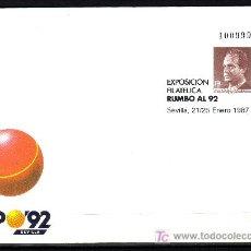 Sellos: ESPAÑA.- SOBRE ENTERO POSTAL Nº 6 EXPOSICIÓN RUMBO AL 92 SEVILLA. Lote 13944044