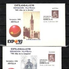 Sellos: ESPAÑA S.E.P. 6A/B NUEVO, EXPO 92, EXFILANDALUS 98, 750º AÑOS CONQUISTA Y 800º AÑOS DE LA GIRALDA. Lote 136496502